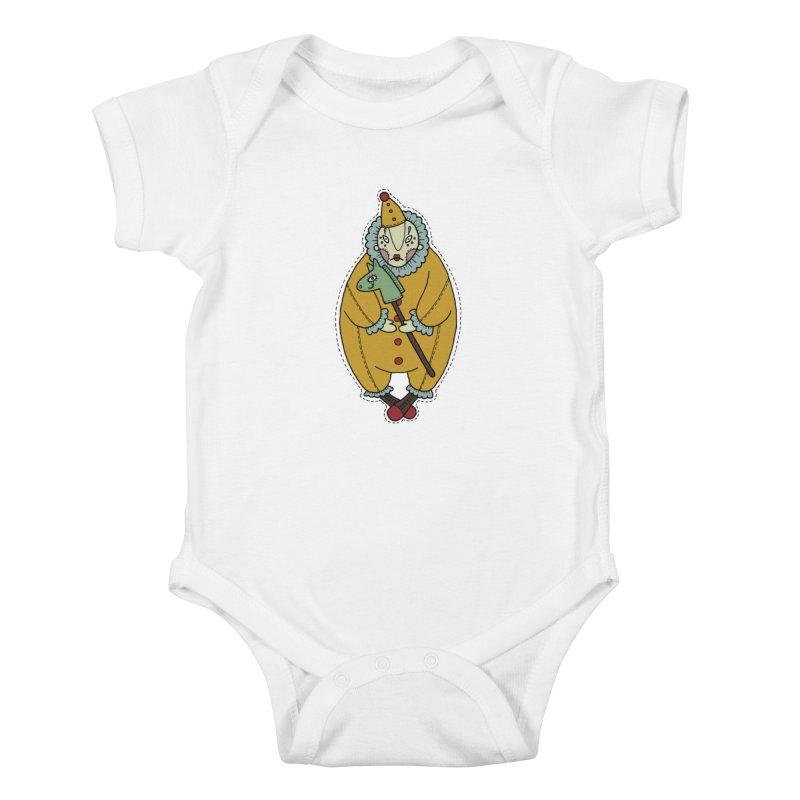 Clown Kids Baby Bodysuit by Crazy Pangolin's Artist Shop