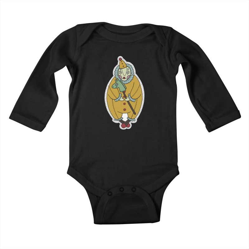 Clown Kids Baby Longsleeve Bodysuit by Crazy Pangolin's Artist Shop