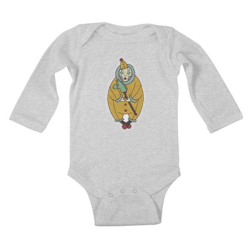 Clown Kids Baby Longsleeve Bodysuit by Crazy Pangolin's Artist Shop