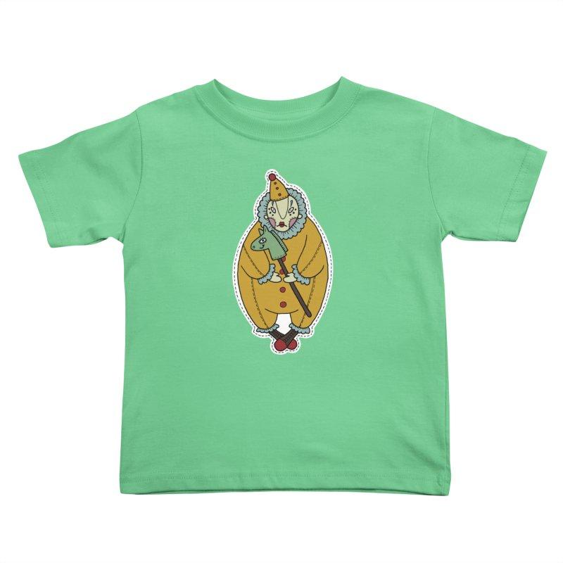 Clown Kids Toddler T-Shirt by Crazy Pangolin's Artist Shop