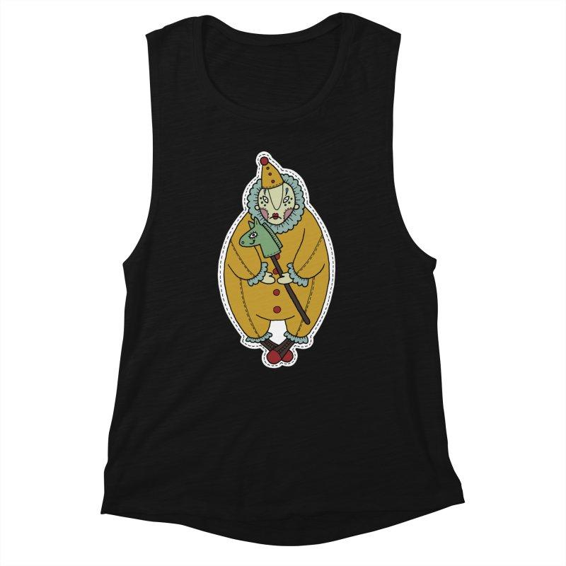 Clown Women's Muscle Tank by Crazy Pangolin's Artist Shop