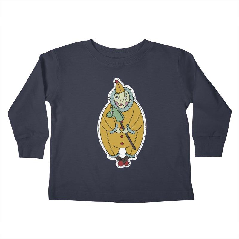 Clown Kids Toddler Longsleeve T-Shirt by Crazy Pangolin's Artist Shop