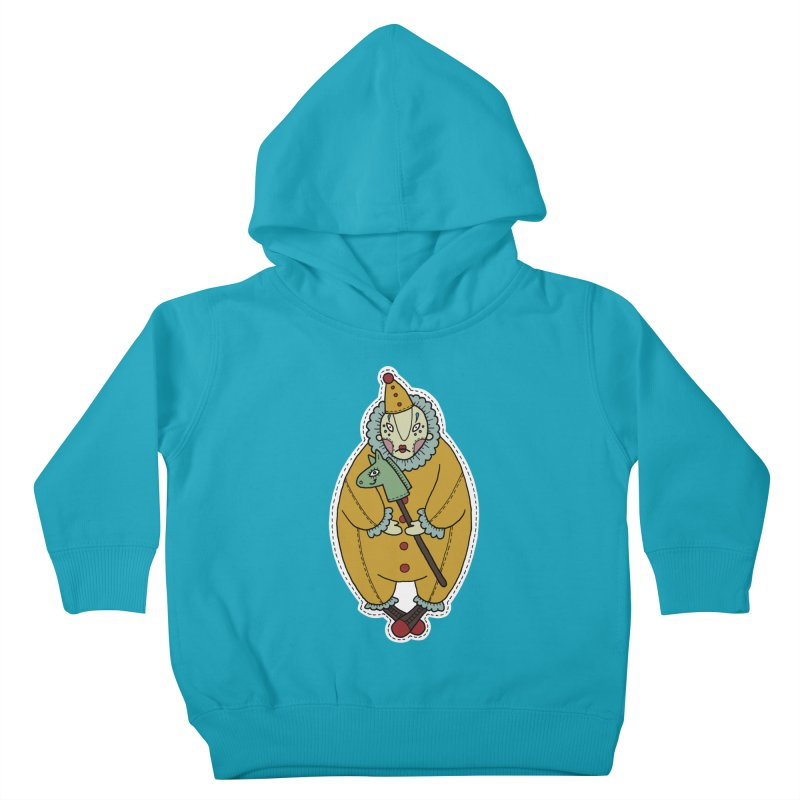 Clown Kids Toddler Pullover Hoody by Crazy Pangolin's Artist Shop