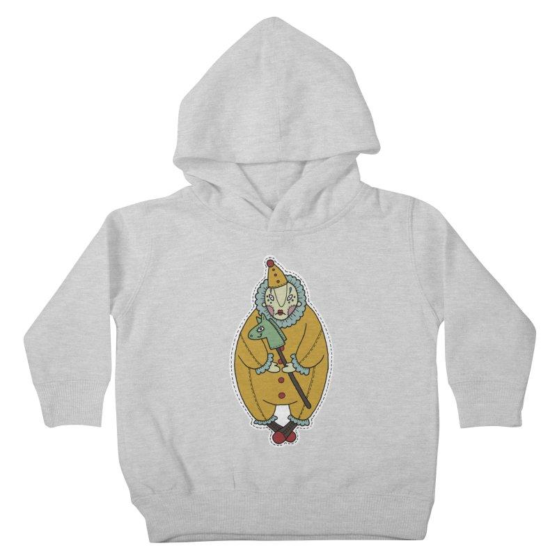 Clown Kids Toddler Pullover Hoody by Crazy Pangolin's Artist Shop