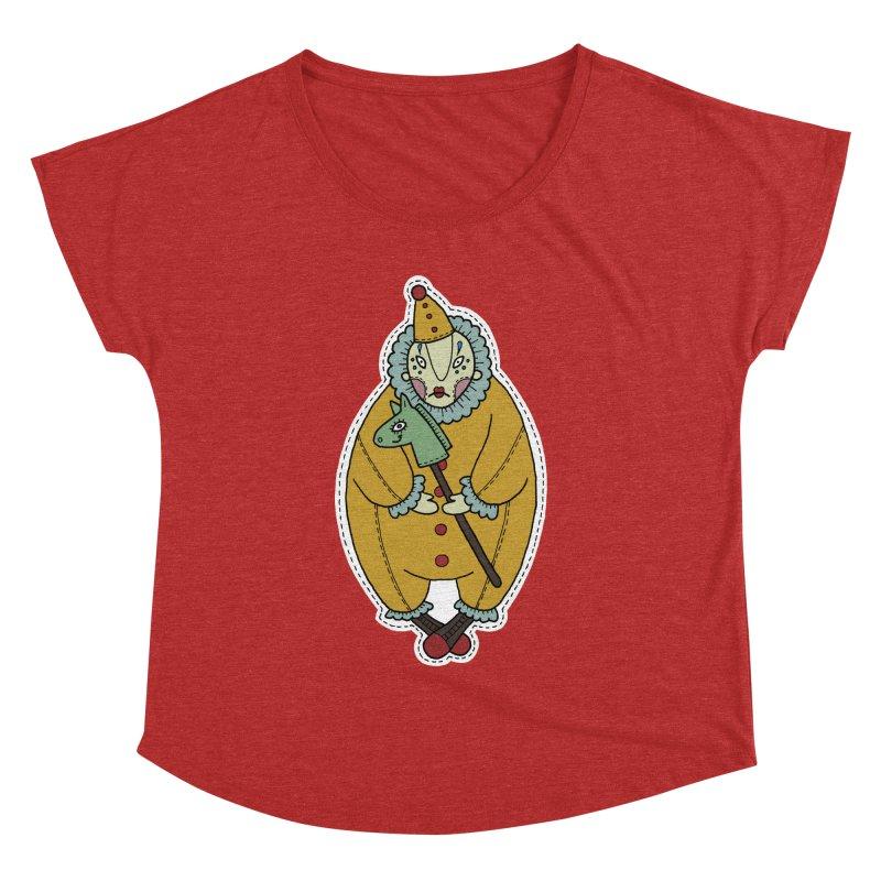 Clown Women's Dolman Scoop Neck by Crazy Pangolin's Artist Shop