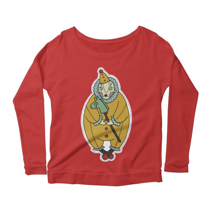 Clown Women's Scoop Neck Longsleeve T-Shirt by Crazy Pangolin's Artist Shop