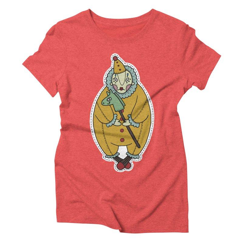 Clown Women's Triblend T-Shirt by Crazy Pangolin's Artist Shop