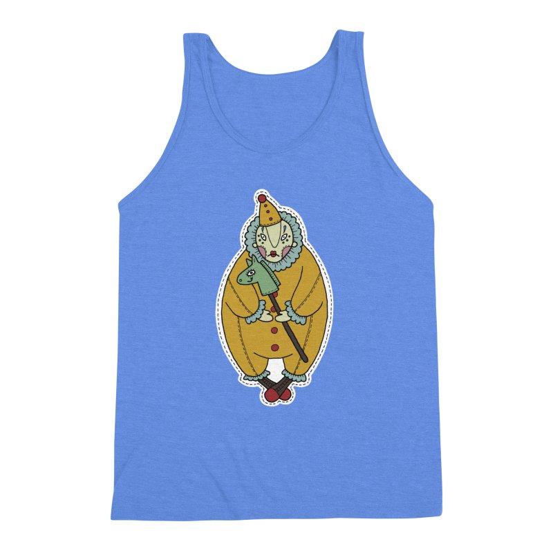 Clown Men's Triblend Tank by Crazy Pangolin's Artist Shop