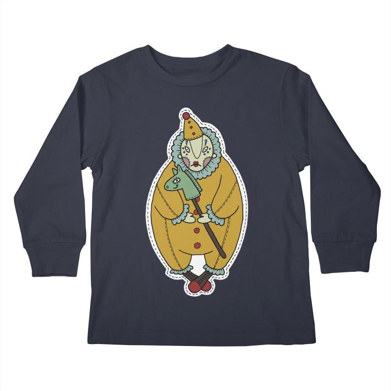 Clown Kids Longsleeve T-Shirt by Crazy Pangolin's Artist Shop