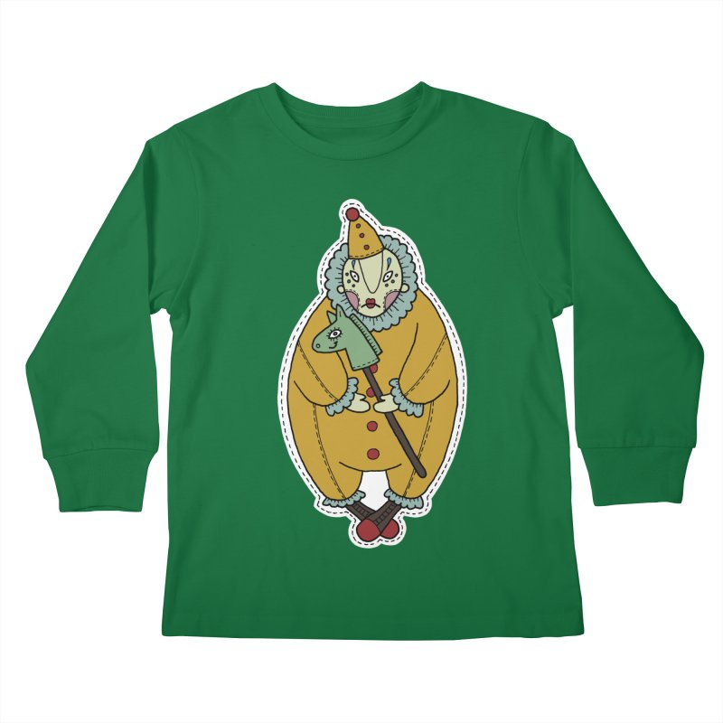 Clown Kids Longsleeve T-Shirt by Crazy Pangolin's Artist Shop
