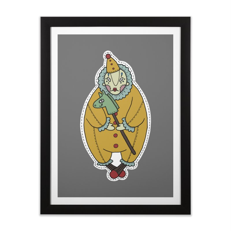 Clown Home Framed Fine Art Print by Crazy Pangolin's Artist Shop