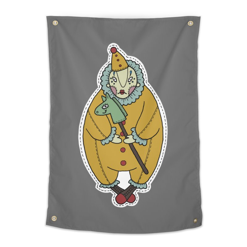 Clown Home Tapestry by Crazy Pangolin's Artist Shop