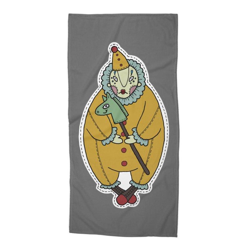 Clown Accessories Beach Towel by Crazy Pangolin's Artist Shop