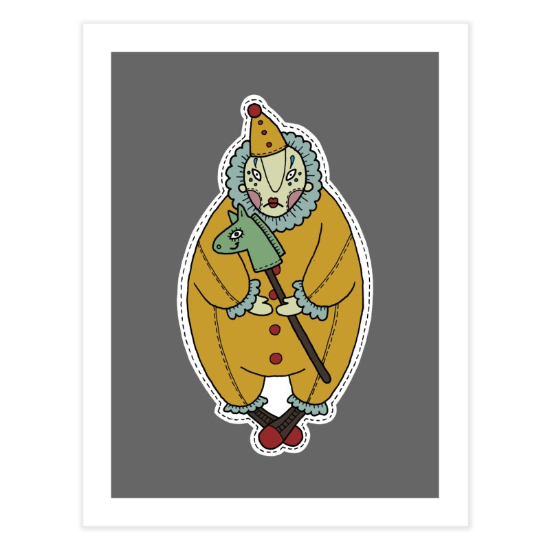 Clown Home Fine Art Print by Crazy Pangolin's Artist Shop