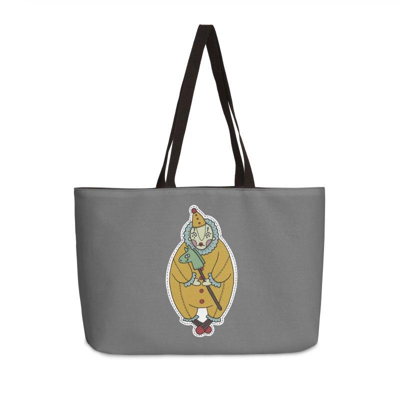 Clown Accessories Weekender Bag Bag by Crazy Pangolin's Artist Shop