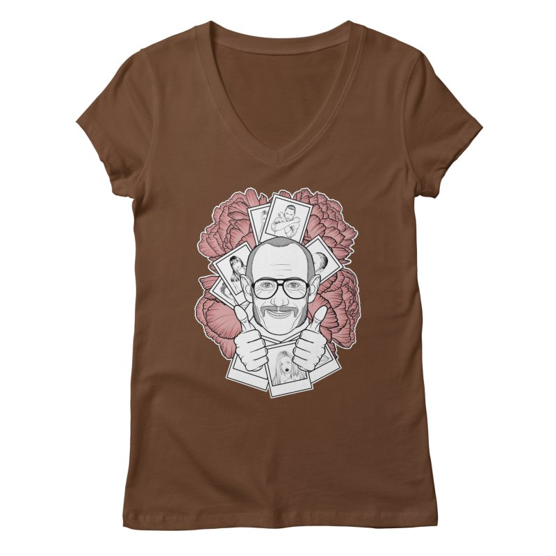 Terry Richardson Women's Regular V-Neck by Crazy Pangolin's Artist Shop