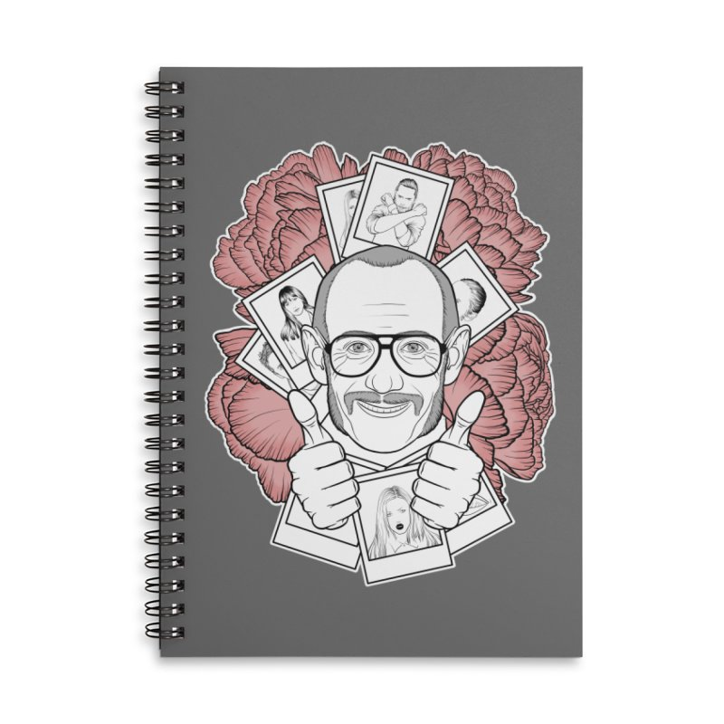 Terry Richardson Accessories Lined Spiral Notebook by Crazy Pangolin's Artist Shop