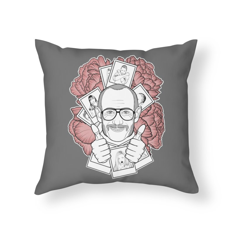 Terry Richardson Home Throw Pillow by Crazy Pangolin's Artist Shop