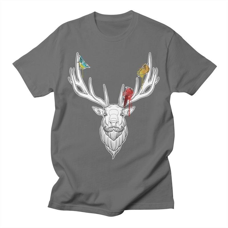 Oh Deer... Men's T-Shirt by Crazy Pangolin's Artist Shop