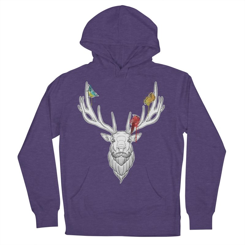 Oh Deer... Women's Pullover Hoody by Crazy Pangolin's Artist Shop