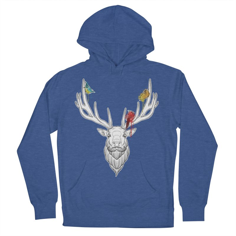 Oh Deer... Men's French Terry Pullover Hoody by Crazy Pangolin's Artist Shop