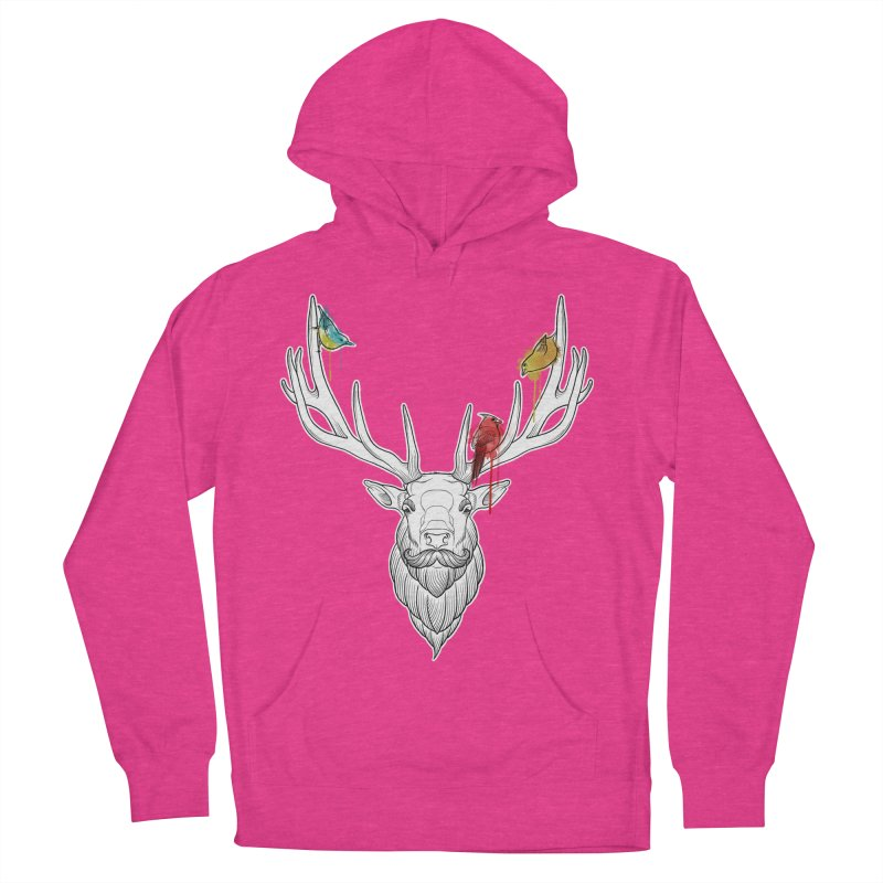 Oh Deer... Men's Pullover Hoody by Crazy Pangolin's Artist Shop