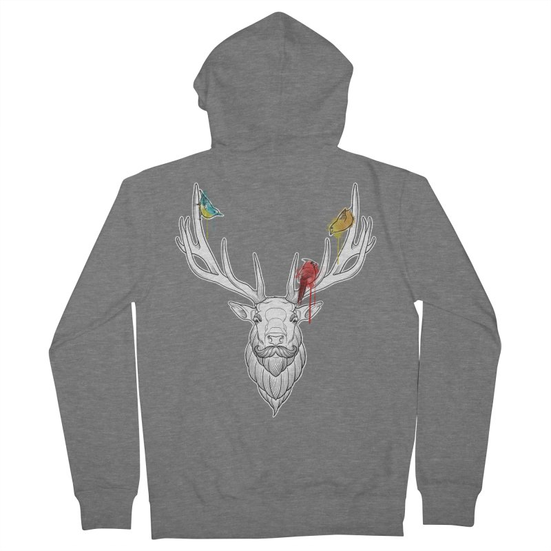 Oh Deer... Women's French Terry Zip-Up Hoody by Crazy Pangolin's Artist Shop