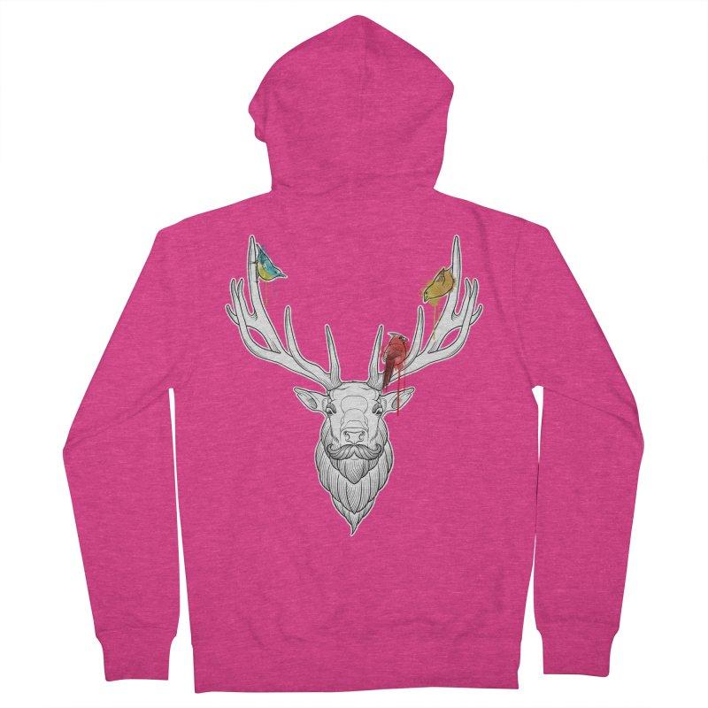Oh Deer... Women's Zip-Up Hoody by Crazy Pangolin's Artist Shop