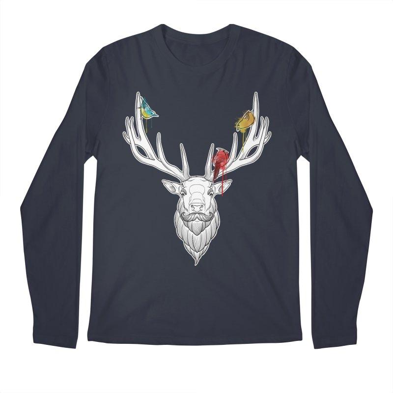 Oh Deer... Men's Regular Longsleeve T-Shirt by Crazy Pangolin's Artist Shop