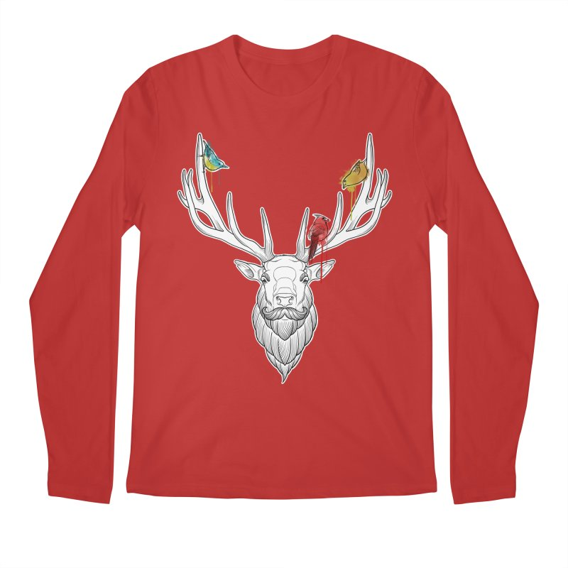 Oh Deer... Men's Regular Longsleeve T-Shirt by Crazy Pangolin's Artist Shop