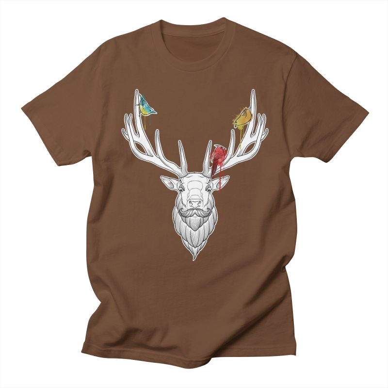Oh Deer... Men's Regular T-Shirt by Crazy Pangolin's Artist Shop