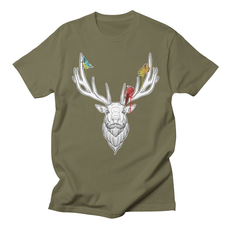Oh Deer... Women's Regular Unisex T-Shirt by Crazy Pangolin's Artist Shop