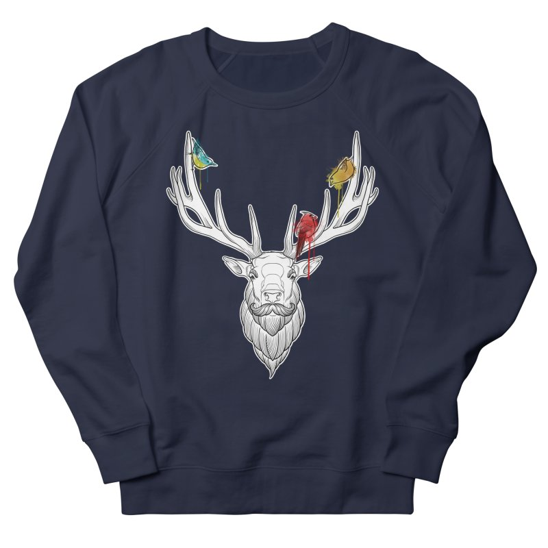 Oh Deer... Women's French Terry Sweatshirt by Crazy Pangolin's Artist Shop
