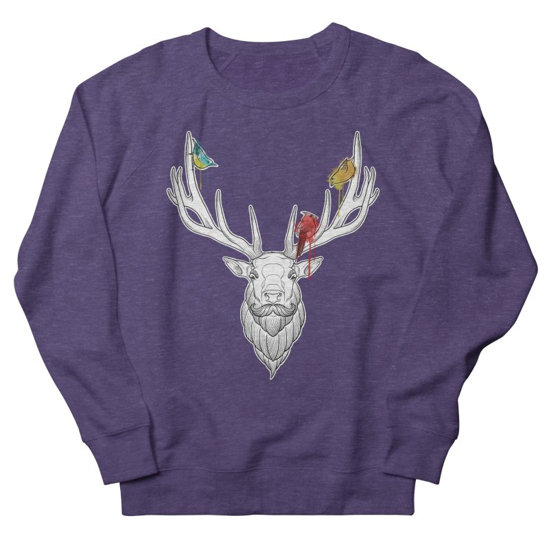 Oh Deer... Men's French Terry Sweatshirt by Crazy Pangolin's Artist Shop