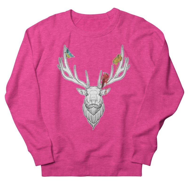 Oh Deer... Men's French Terry Sweatshirt by Crazy Pangolin's Artist Shop