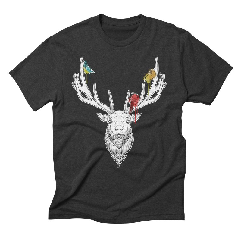 Oh Deer... Men's Triblend T-Shirt by Crazy Pangolin's Artist Shop