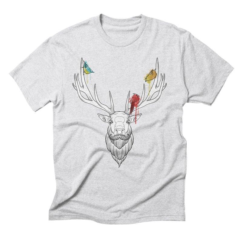 Oh Deer... Men's Triblend T-Shirt by Crazy Pangolin's Artist Shop