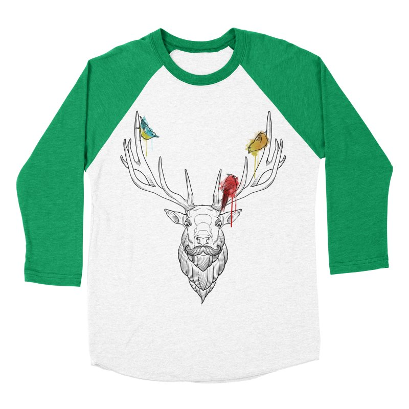 Oh Deer... Women's Baseball Triblend Longsleeve T-Shirt by Crazy Pangolin's Artist Shop