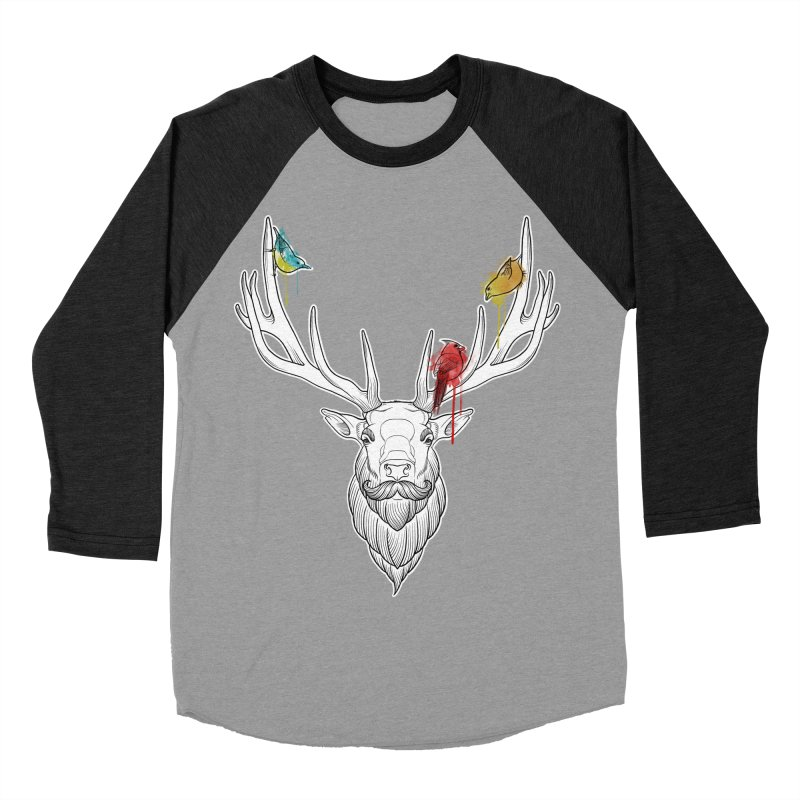 Oh Deer... Women's Baseball Triblend T-Shirt by Crazy Pangolin's Artist Shop