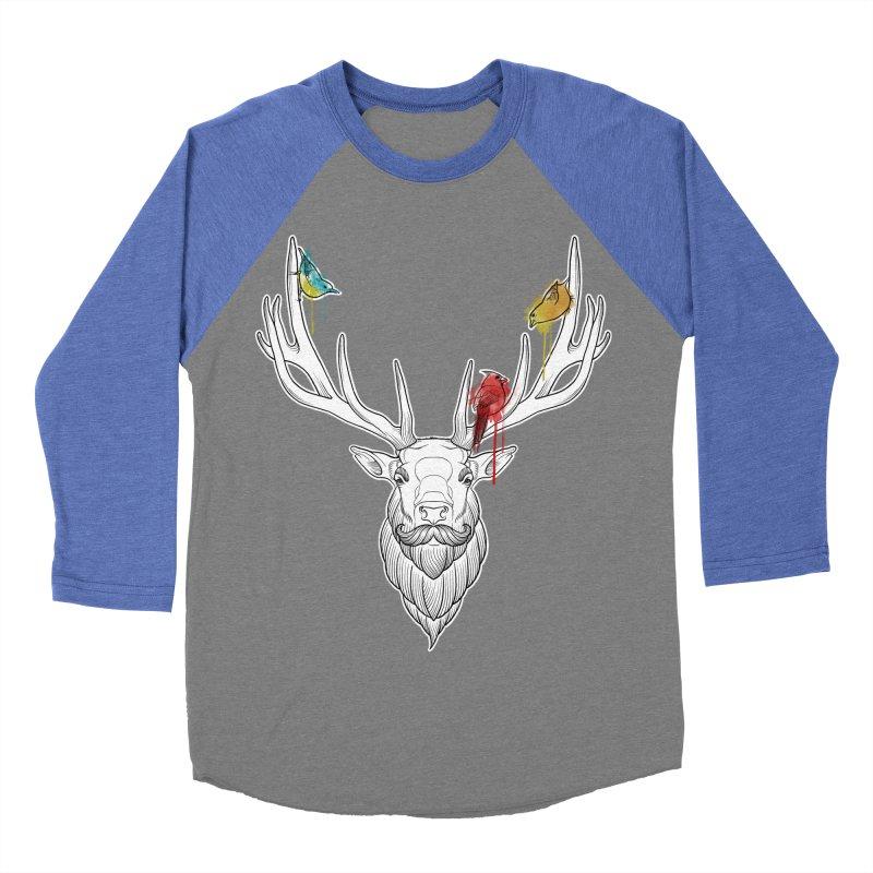 Oh Deer... Men's Baseball Triblend Longsleeve T-Shirt by Crazy Pangolin's Artist Shop