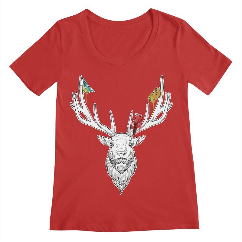 Oh Deer... Women's Regular Scoop Neck by Crazy Pangolin's Artist Shop