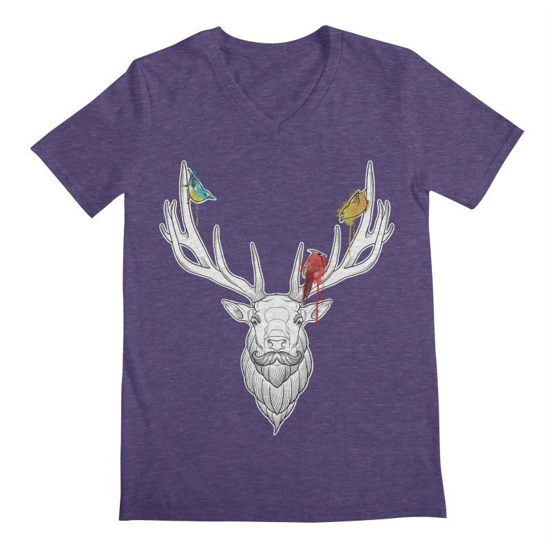 Oh Deer... Men's V-Neck by Crazy Pangolin's Artist Shop