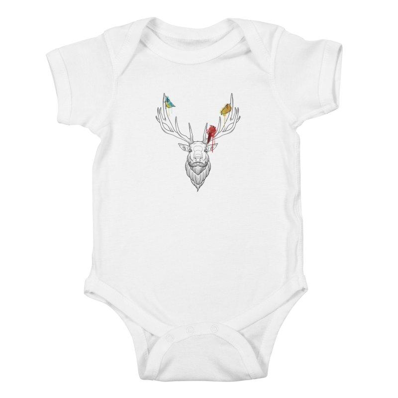 Oh Deer... Kids Baby Bodysuit by Crazy Pangolin's Artist Shop