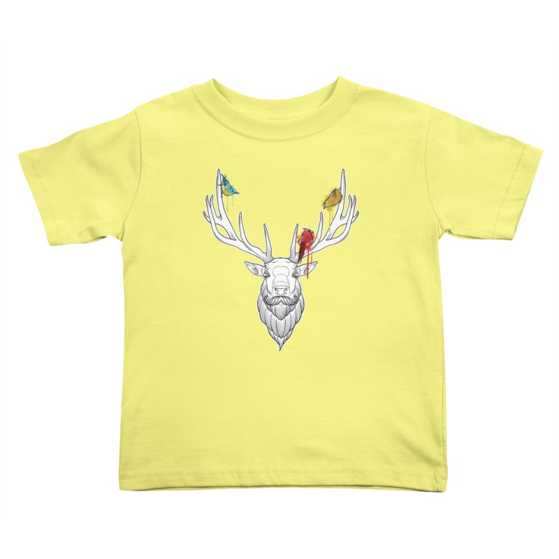 Oh Deer... Kids Toddler T-Shirt by Crazy Pangolin's Artist Shop