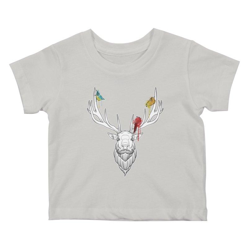 Oh Deer... Kids Baby T-Shirt by Crazy Pangolin's Artist Shop