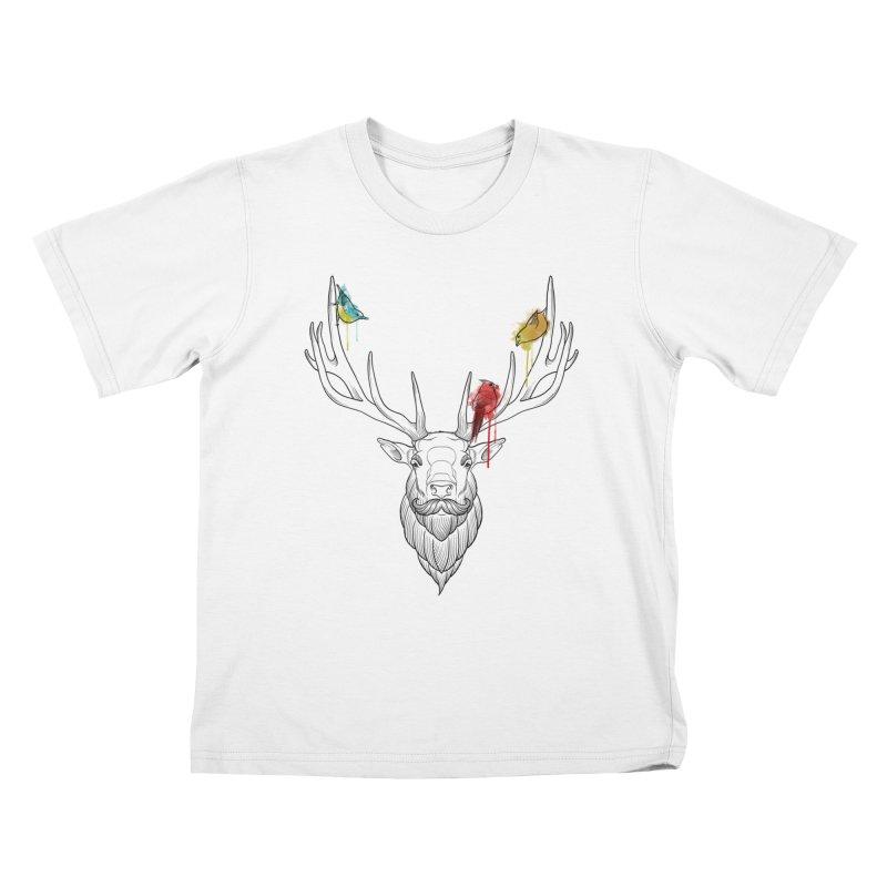 Oh Deer... Kids T-Shirt by Crazy Pangolin's Artist Shop