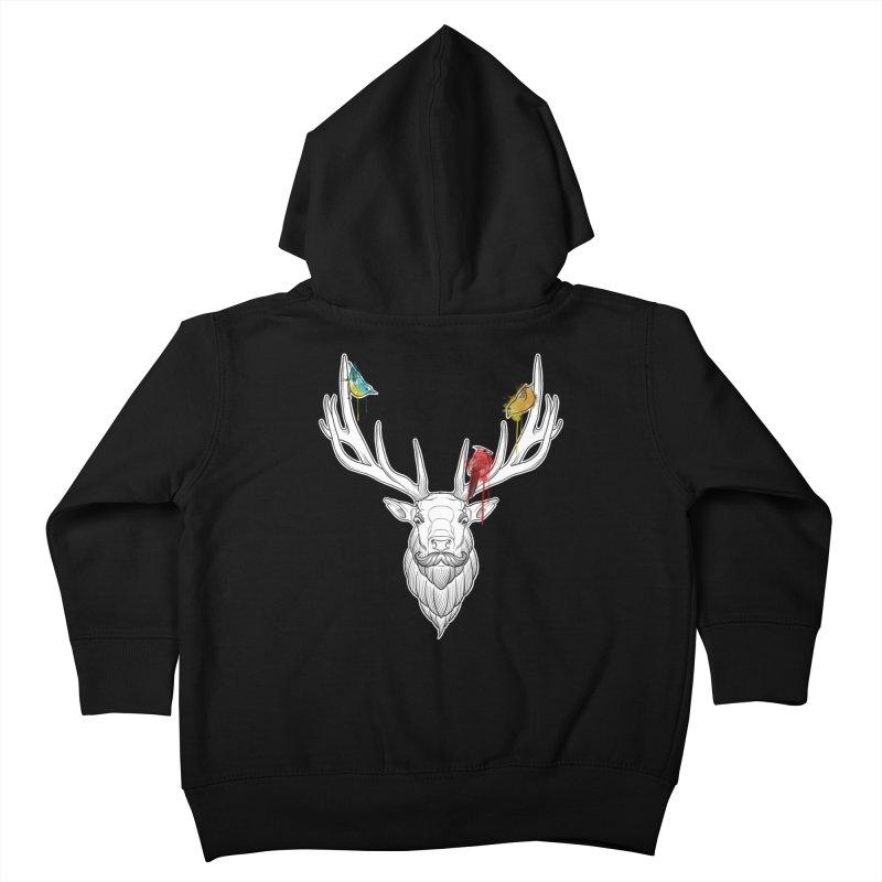 Oh Deer... Kids Toddler Zip-Up Hoody by Crazy Pangolin's Artist Shop