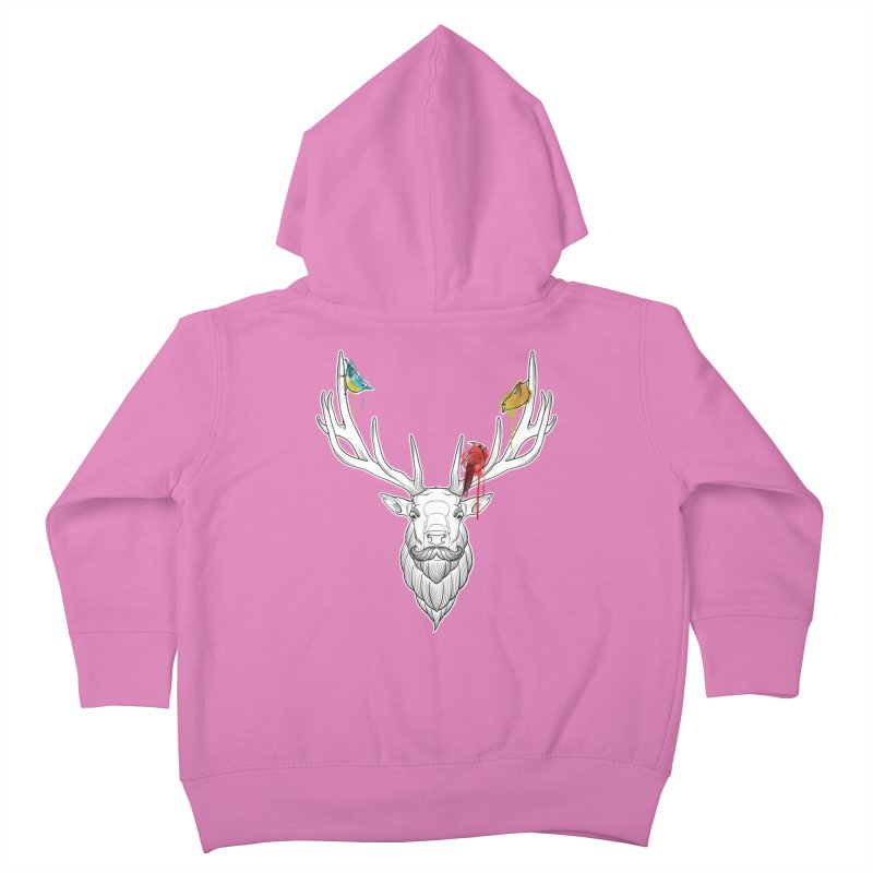 Oh Deer... Kids Toddler Zip-Up Hoody by Crazy Pangolin's Artist Shop