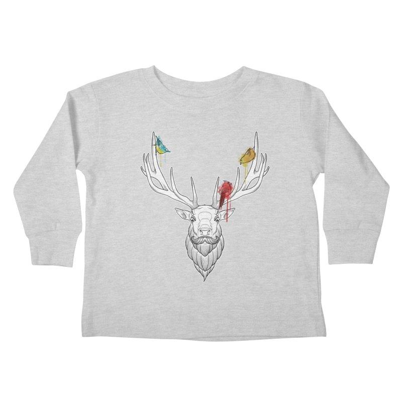 Oh Deer... Kids Toddler Longsleeve T-Shirt by Crazy Pangolin's Artist Shop