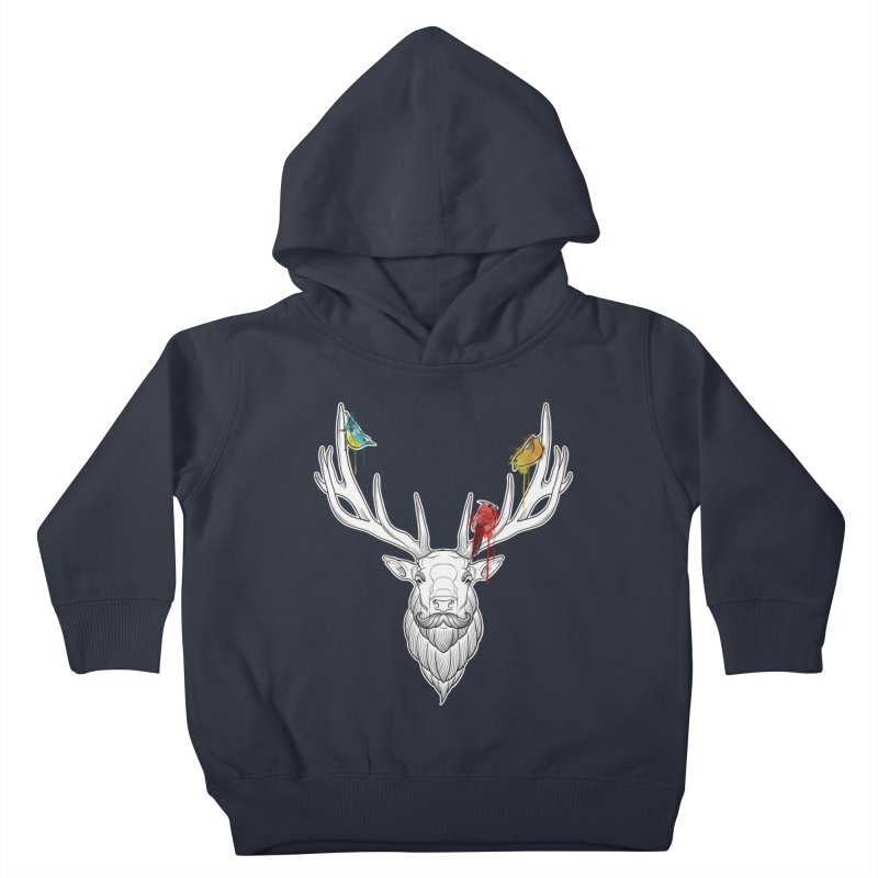 Oh Deer... Kids Toddler Pullover Hoody by Crazy Pangolin's Artist Shop